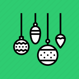 bauble, celebration, christmas, decoration, festival, new year, ornament icon