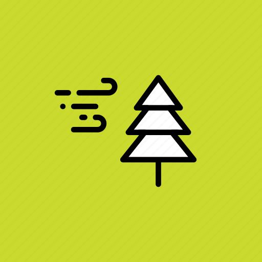 breeze, christmas, cold, snow, storm, tree, winter icon
