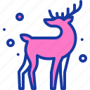 christmas, deer, new year, rein, rudolph, santa, winter icon