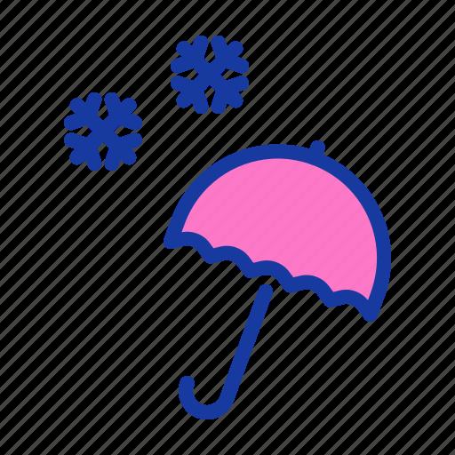 christmas, new year, snow, snowfall, umbrella, weather, winter icon