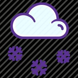 christmas, cloud, new, snow, snowfall, winter, year icon