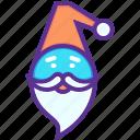 cap, new year, gift, claus, santa, christmas, beard