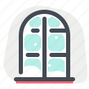 christmas, holiday, new year, snow, vacation, window, winter icon