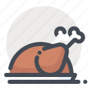 chicken, dish, grill, holiday, new year, winter, xmas icon