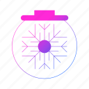 ball, christmas, holiday, snow, winter icon