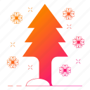 christmas, holiday, snow, tree, winter icon