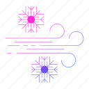christmas, cold, holiday, wind, winter icon