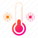 christmas, cold, holiday, thermometer, winter icon
