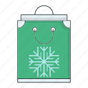 bag, cold, season, shopping, snow, snowflake, winter icon
