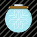 ball, cold, season, snowflake, winter icon