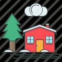cold, house, season, snowflake, winter icon