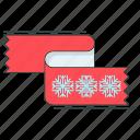 clothes, cold, season, shawl, snowflake, winter icon