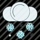 cloud, cold, season, snow, snowflake, winter icon