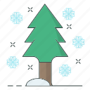 cold, season, snowflake, tree, winter icon
