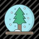 ball, cold, season, snowflake, tree, winter icon