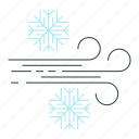 cold, season, snowflake, wind, winter icon