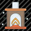 cold, flame, season, snowflake, stove, winter icon