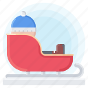 winter, year, sled, christmas, man, snow, new icon
