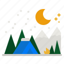 tent, mountain, winter, snow, camping
