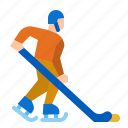hockey, ice, sport, pond, competition icon
