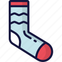 clothing, december, holidays, sock, winter icon