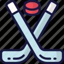 december, hockey, holidays, ice, snow sports, winter icon