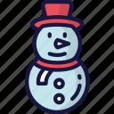 christmas, december, holidays, snowman, winter