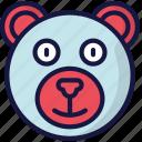 animal, bear, december, holidays, winter icon