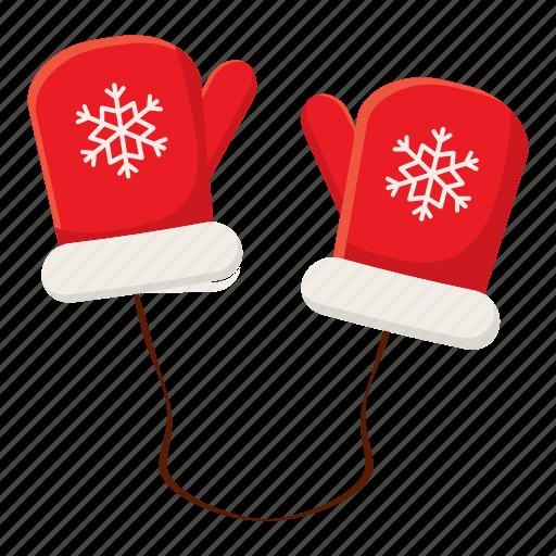 cartoon, cloth, fashion, hand, mittens, season, snow icon
