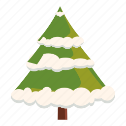 branch, cartoon, christmas, fir, fur, snow, tree icon