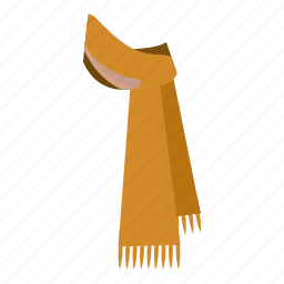 cartoon, cloth, clothing, fashion, scarf, warm, winter icon