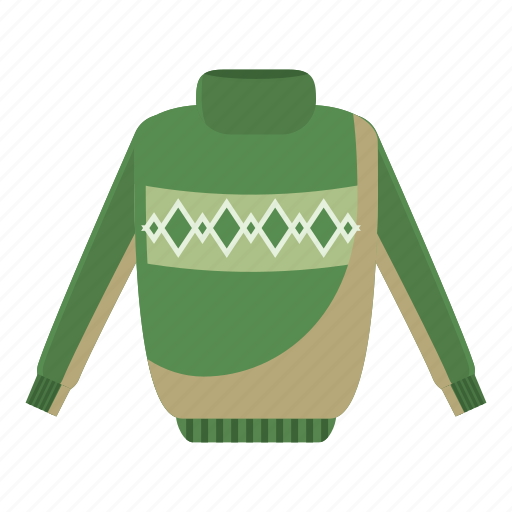 cartoon, cloth, clothing, fashion, mens, sweater, warm icon