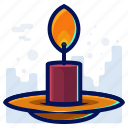 candle, christmas, decoration, fire, flame icon