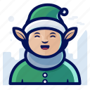 celebration, christmas, elf, holiday, xmas icon