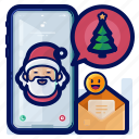 christmas, digital, envelope, greetings, phone, smartphone icon