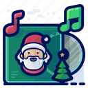 audio, cd, christmas, music, playlist icon