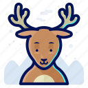 animal, deer, forest, reindeer, wildlife icon