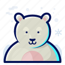 animal, bear, cold, polar, wildlife, winter icon