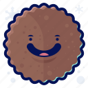cookie, food, smiley, snack, winter icon