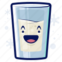 beverage, drink, milk, smiley, winter icon