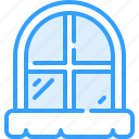 cold, outside, snow, window, winter icon