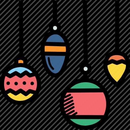 bauble, celebration, christmas, decoration, festival, new year, ornament icon