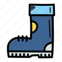boot, christmas, cold, footwear, shoe, snow, winter icon