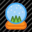 glass, present, seasons, snow, snow globe, snowball, winter