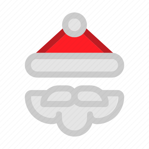 beard, christmas, claus, santa, seasons, snow, winter icon