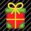 box, christmas, gift, present, seasons, snow, winter