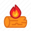 bonfire, fire, seasons, snow, warmer, winter, wood icon