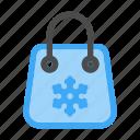 bag, sale, season, seasons, shopping, snow, winter icon
