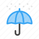 clouds, rain, seasons, snow, snowy, umbrella, winter icon
