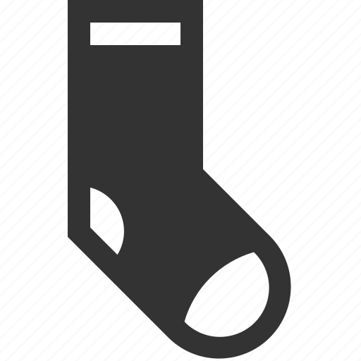 clothe, knitted, sock, warm icon